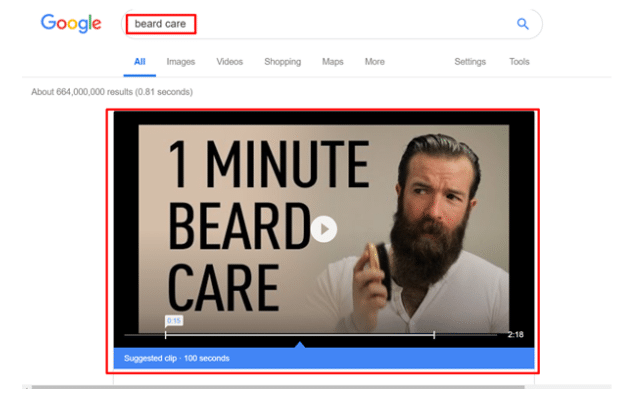 video search result beard